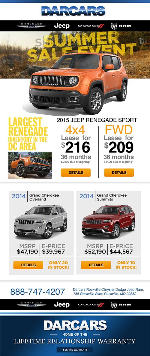Renegade jeep promo