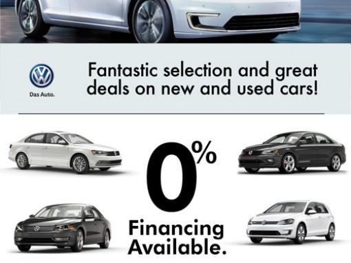 Volkswagen dealer promo