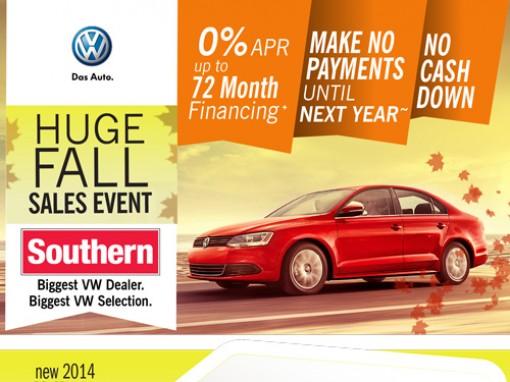 Volkswagen dealer fall promo