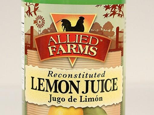 Allied Farms Lemon Juice