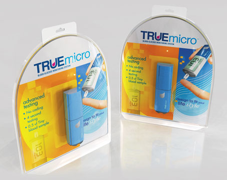 True micro Blood glucose meter