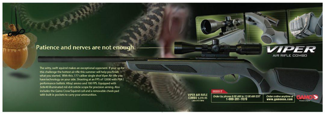 Gamo Viper half page ad