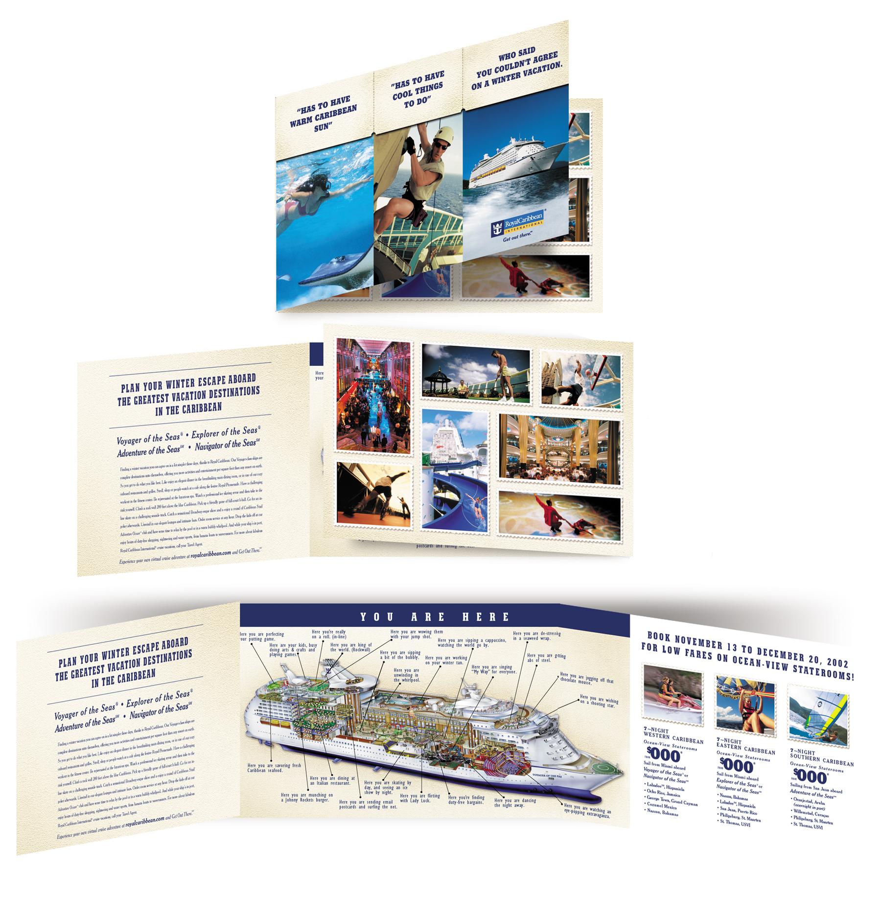 Royal Caribbean Dual Fold Brochure