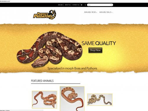 Perfect Predator Website